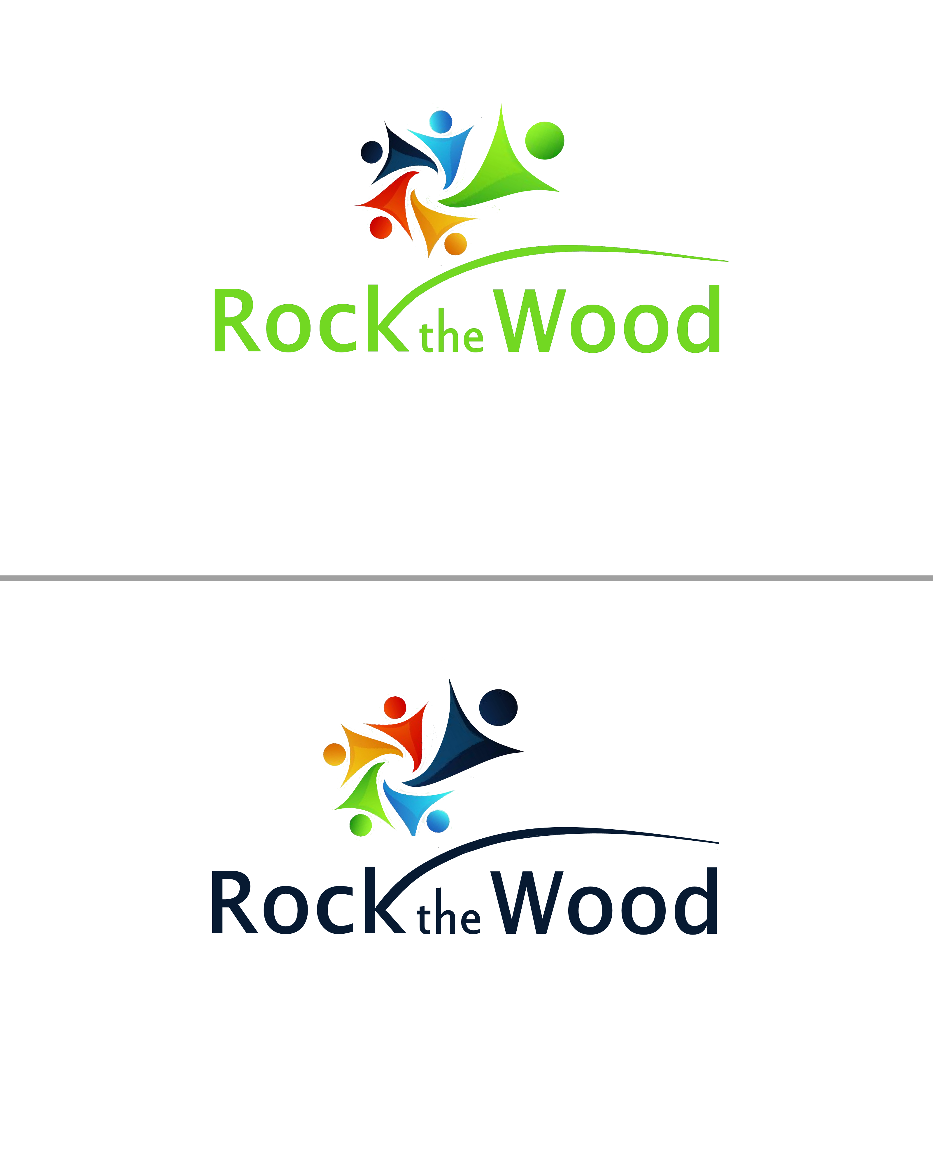 Logo Design by Roberto Bassi - Entry No. 62 in the Logo Design Contest New Logo Design for Rock the Wood.