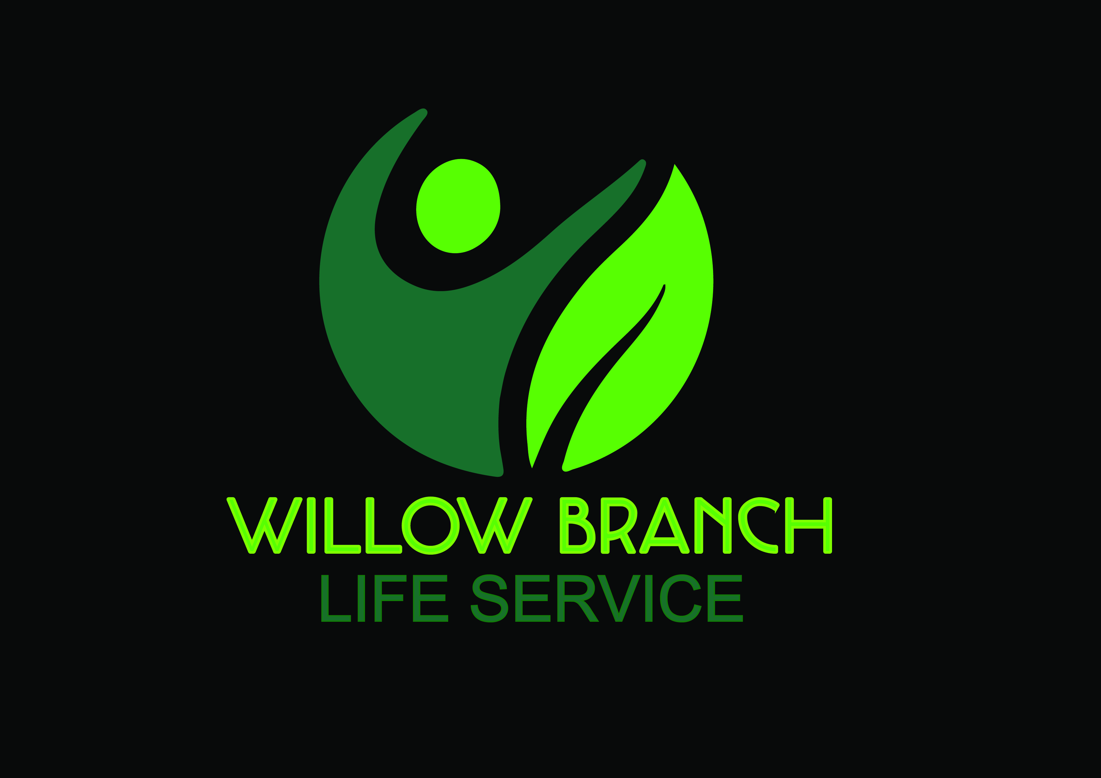 Logo Design by Anum Aamir - Entry No. 4 in the Logo Design Contest Artistic Logo Design for Willow Branch Life Service.