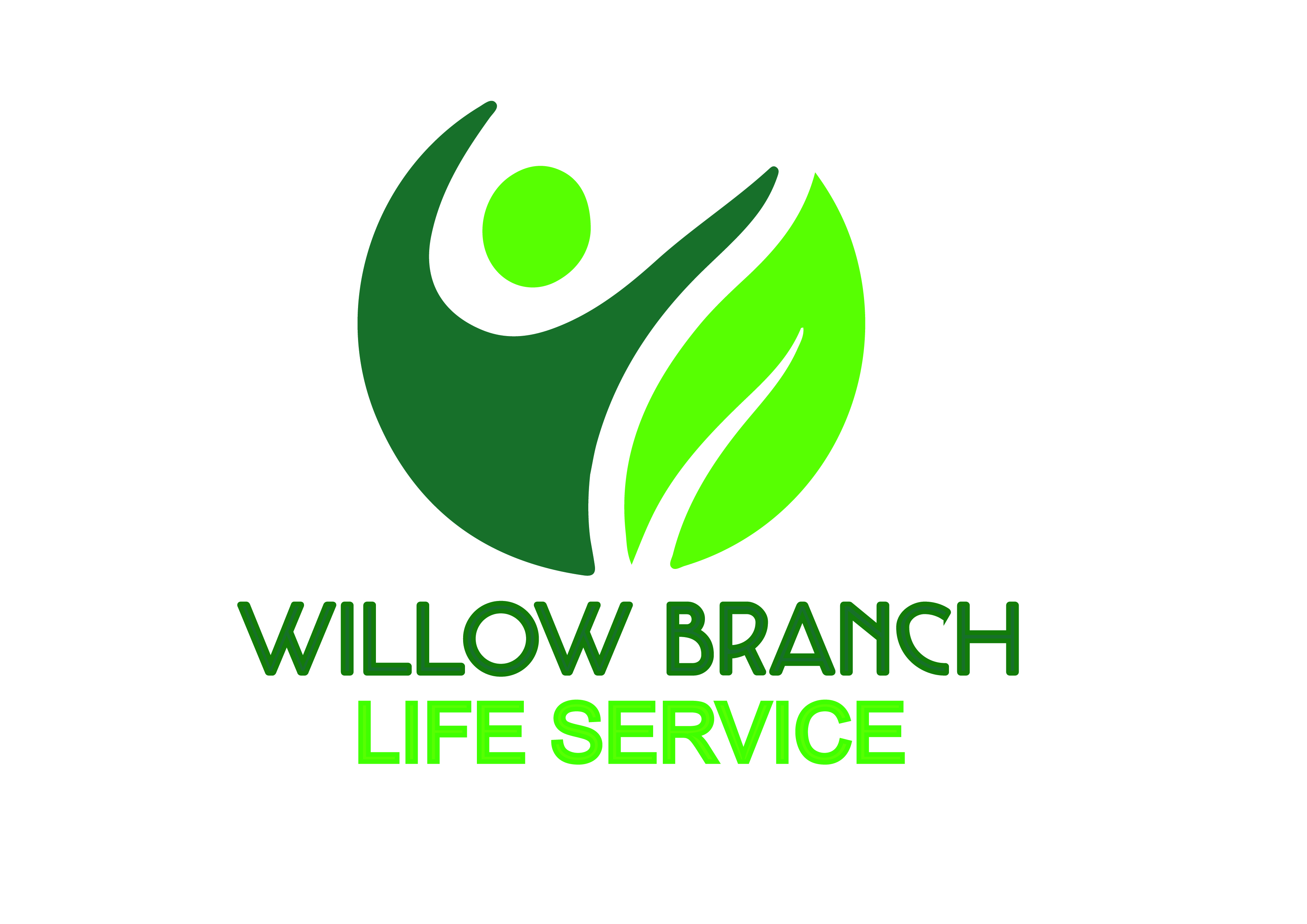 Logo Design by Anum Aamir - Entry No. 5 in the Logo Design Contest Artistic Logo Design for Willow Branch Life Service.