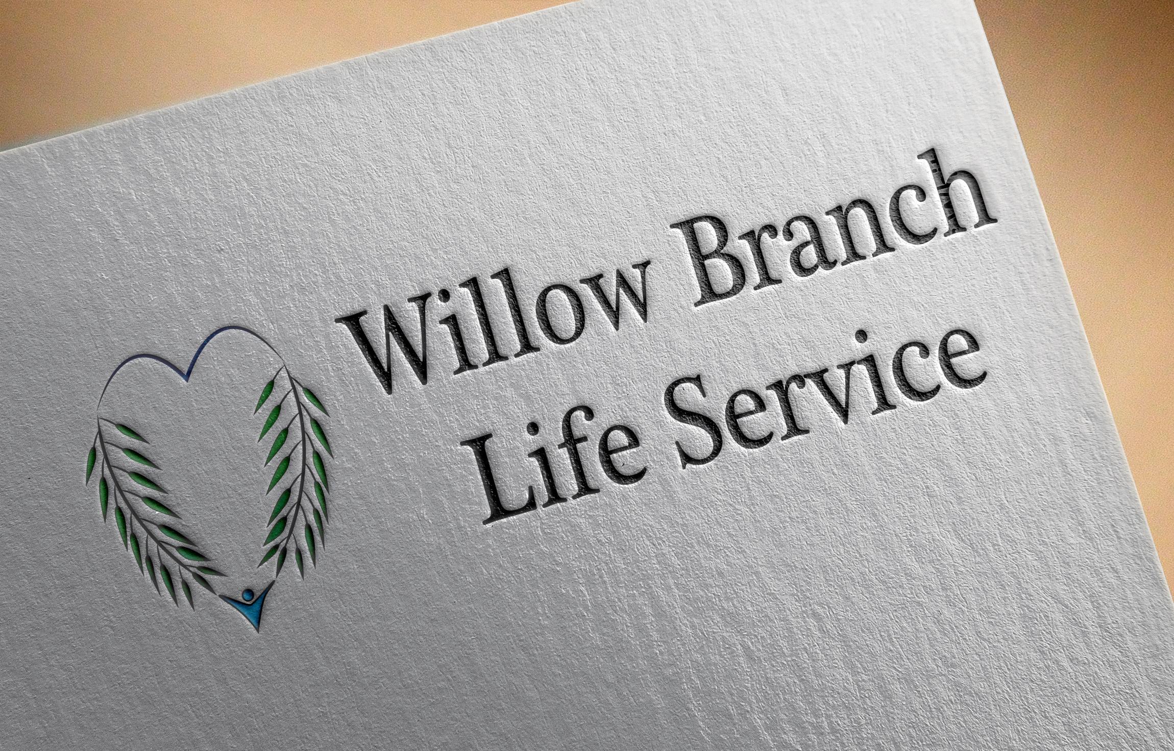 Logo Design by Goran Ledjenovic - Entry No. 8 in the Logo Design Contest Artistic Logo Design for Willow Branch Life Service.