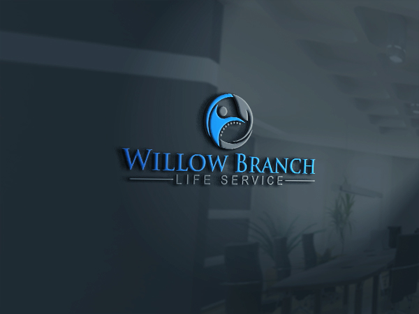 Logo Design by Bahar Hossain - Entry No. 16 in the Logo Design Contest Artistic Logo Design for Willow Branch Life Service.