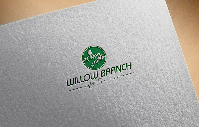 Logo Design by Taher Patwary - Entry No. 47 in the Logo Design Contest Artistic Logo Design for Willow Branch Life Service.