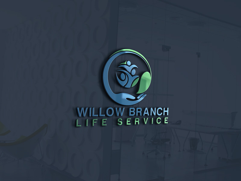 Logo Design by Maksud Rifat - Entry No. 70 in the Logo Design Contest Artistic Logo Design for Willow Branch Life Service.