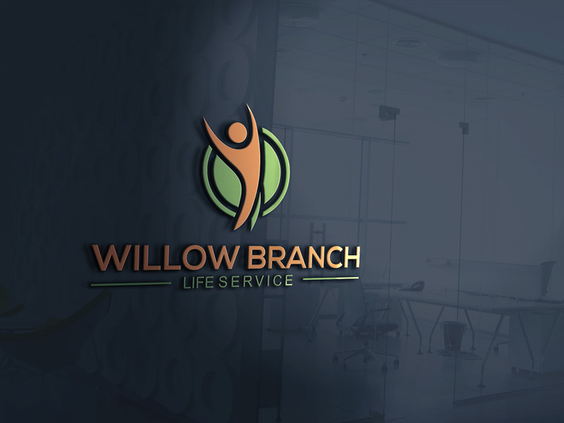 Logo Design by Ismail Hossain - Entry No. 77 in the Logo Design Contest Artistic Logo Design for Willow Branch Life Service.