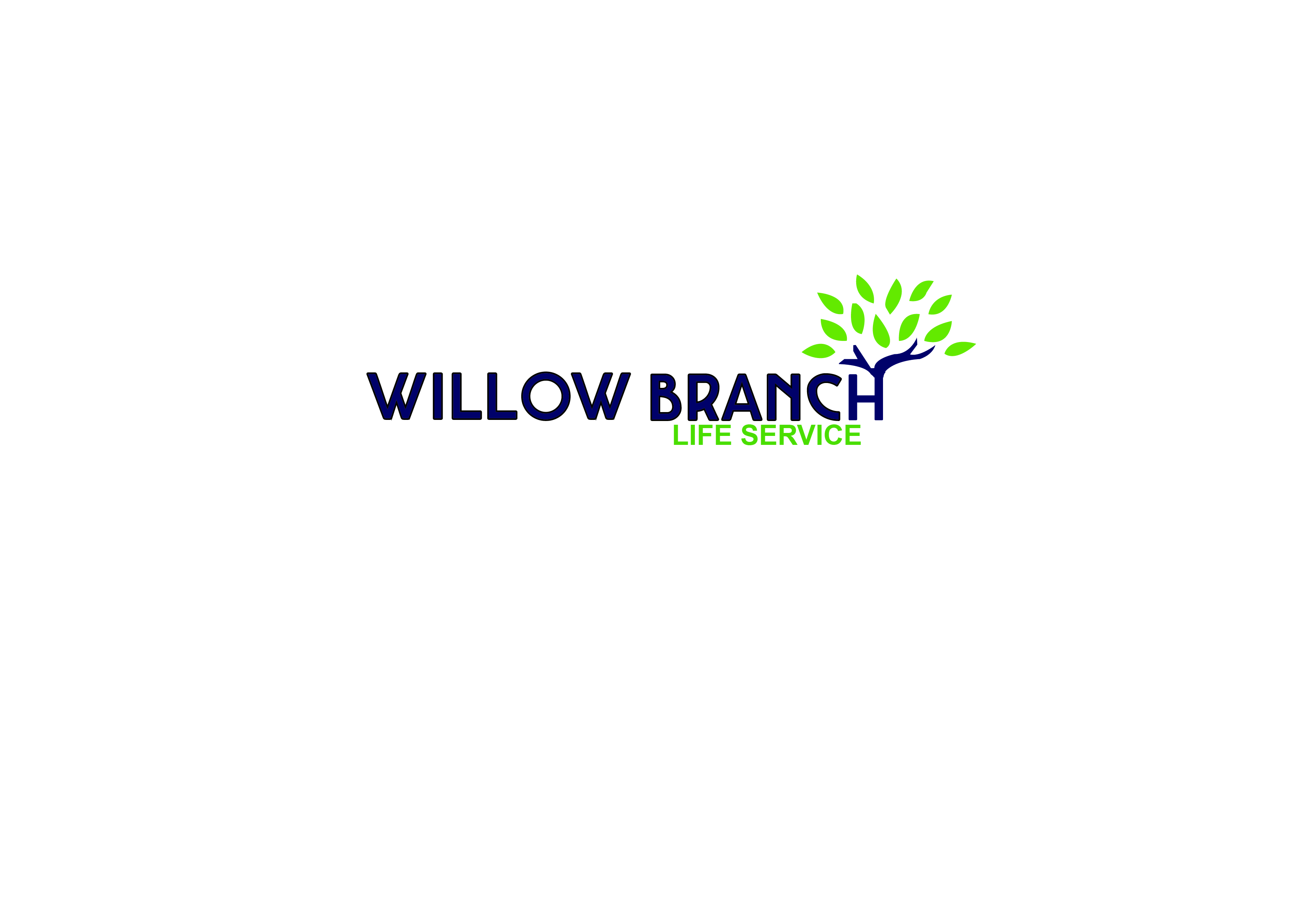 Logo Design by Anum Aamir - Entry No. 95 in the Logo Design Contest Artistic Logo Design for Willow Branch Life Service.