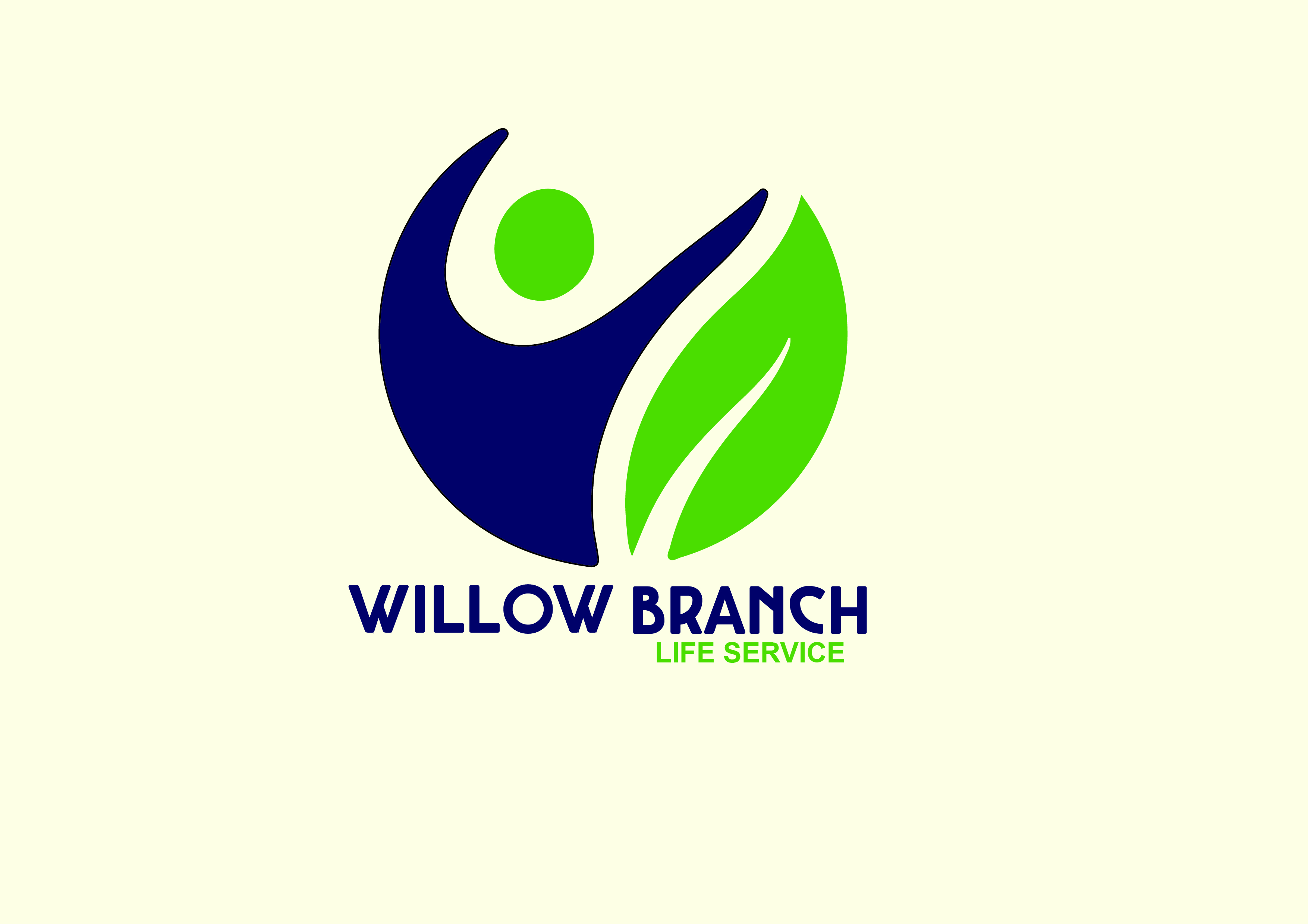 Logo Design by Anum Aamir - Entry No. 96 in the Logo Design Contest Artistic Logo Design for Willow Branch Life Service.