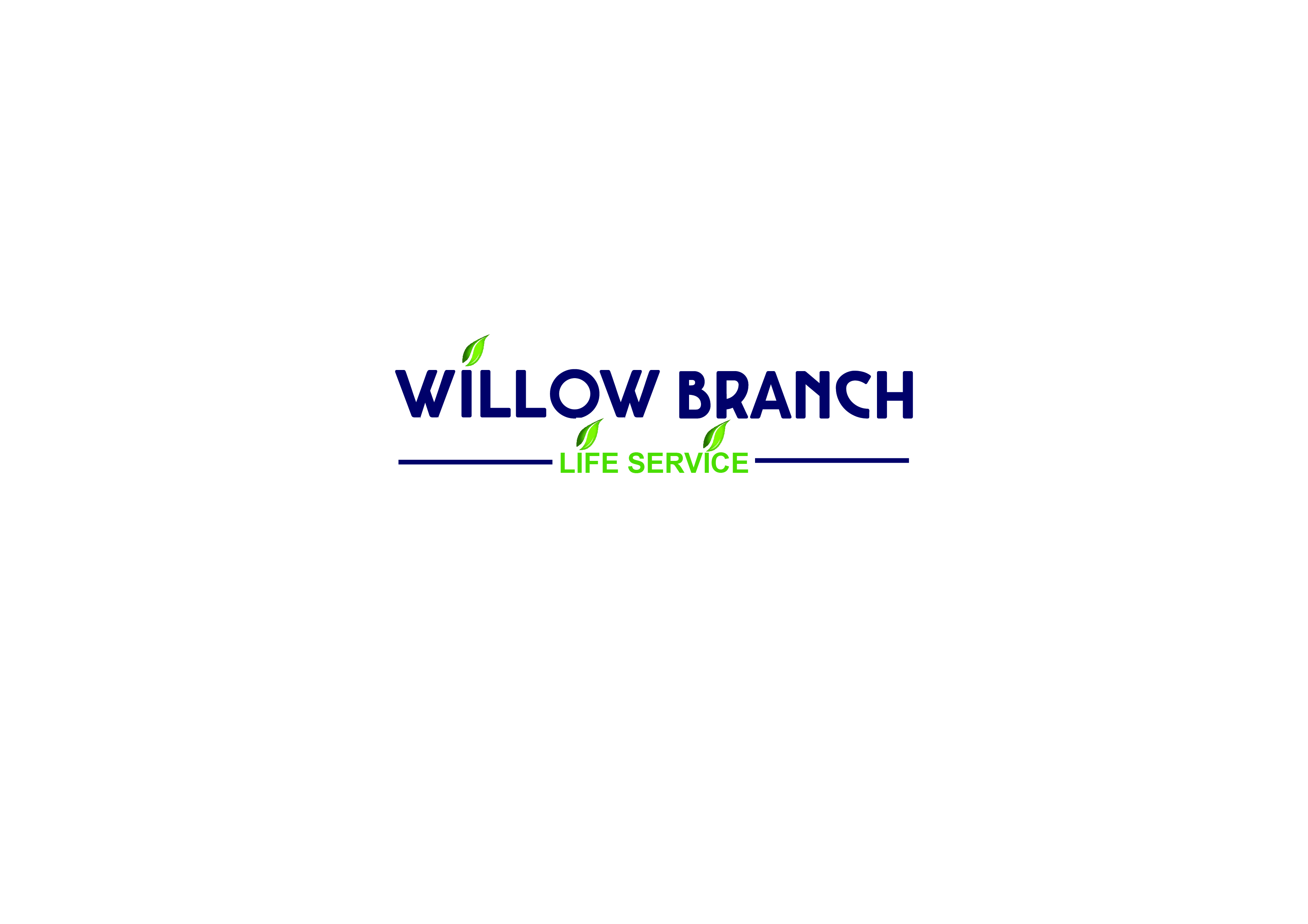Logo Design by Anum Aamir - Entry No. 97 in the Logo Design Contest Artistic Logo Design for Willow Branch Life Service.