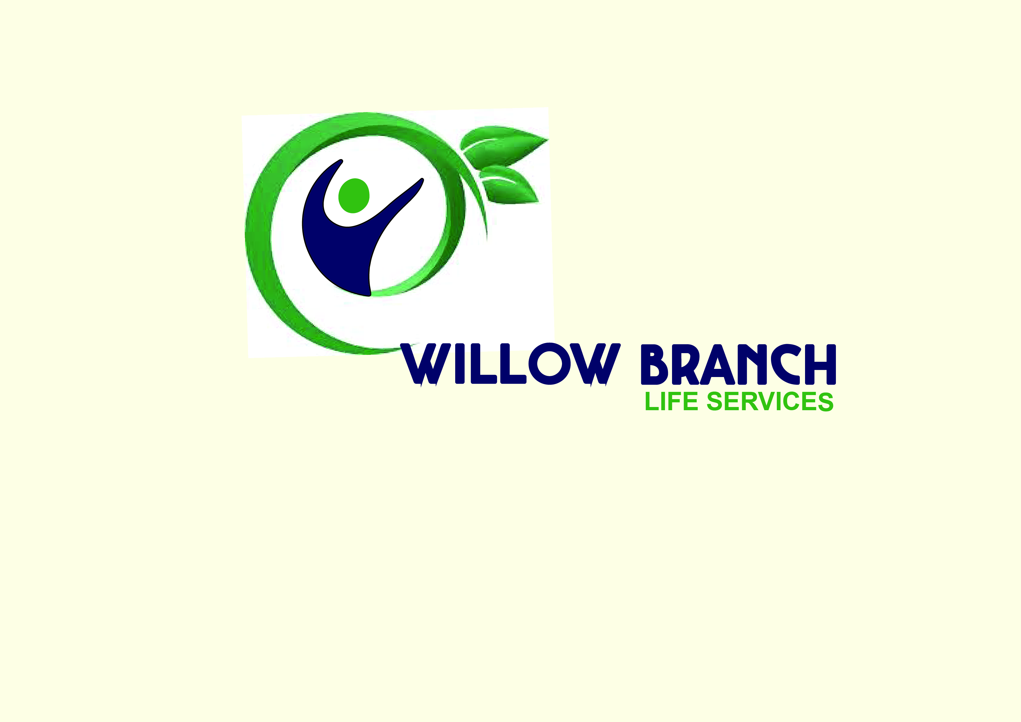 Logo Design by Anum Aamir - Entry No. 98 in the Logo Design Contest Artistic Logo Design for Willow Branch Life Service.