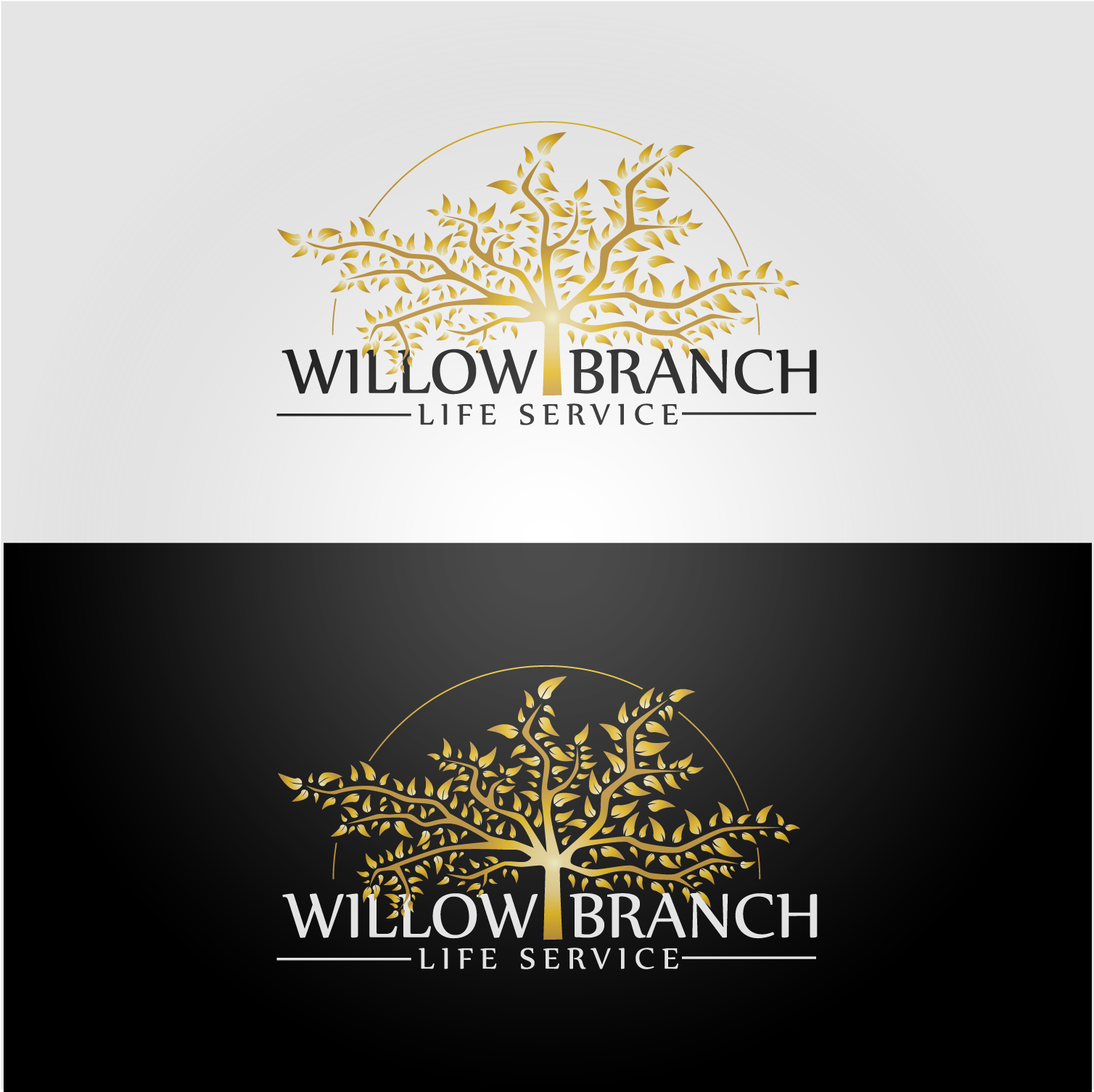 Logo Design by Batter Fly - Entry No. 105 in the Logo Design Contest Artistic Logo Design for Willow Branch Life Service.