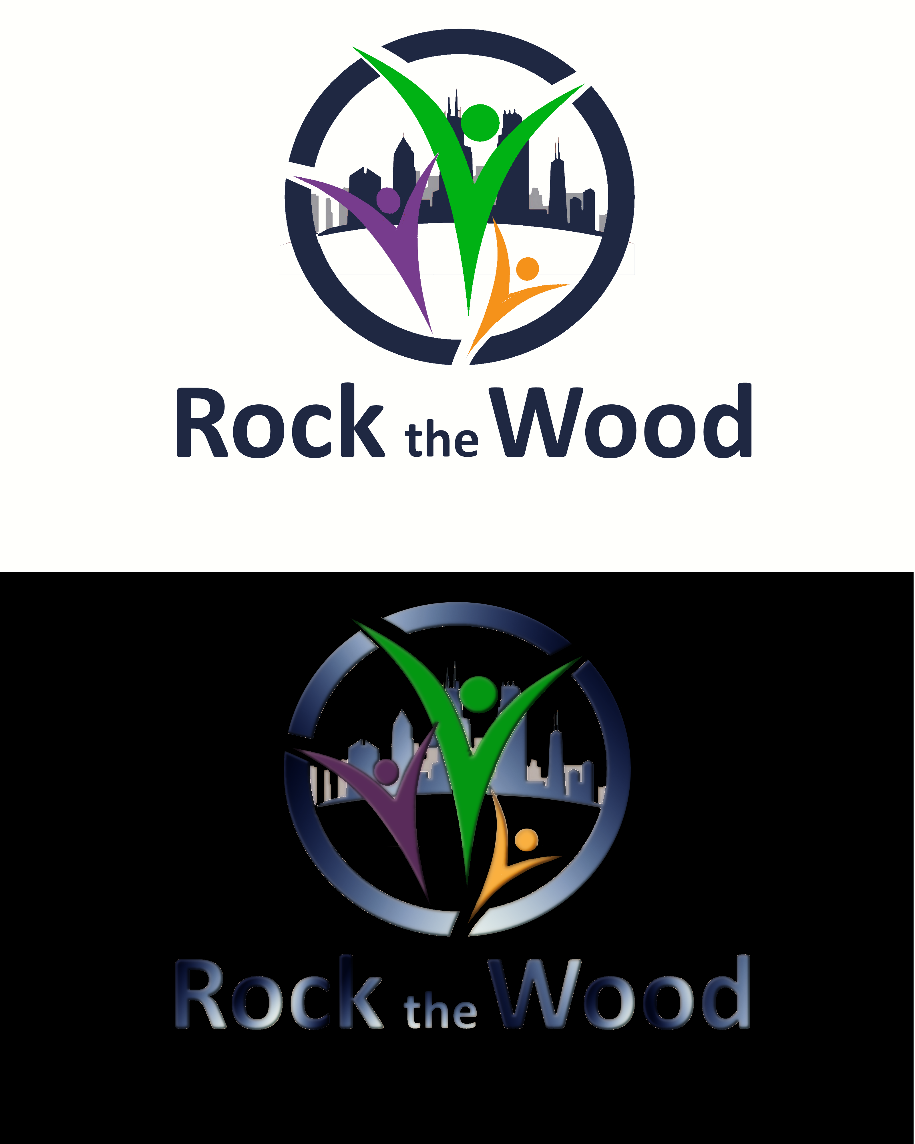 Logo Design by Roberto Bassi - Entry No. 85 in the Logo Design Contest New Logo Design for Rock the Wood.