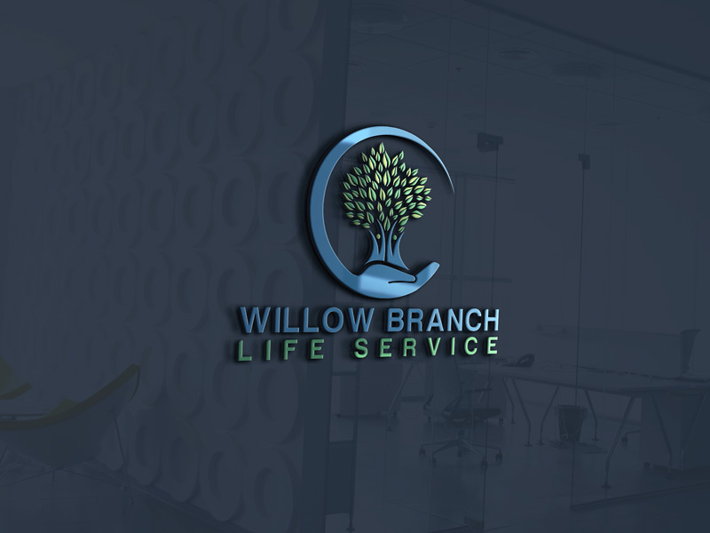 Logo Design by Maksud Rifat - Entry No. 126 in the Logo Design Contest Artistic Logo Design for Willow Branch Life Service.
