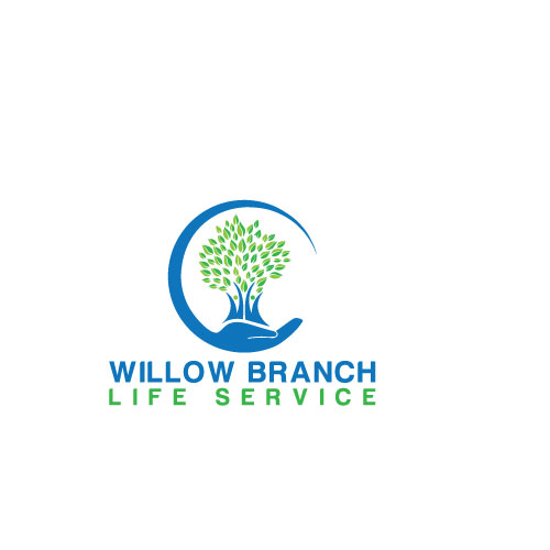 Logo Design by Maksud Rifat - Entry No. 127 in the Logo Design Contest Artistic Logo Design for Willow Branch Life Service.