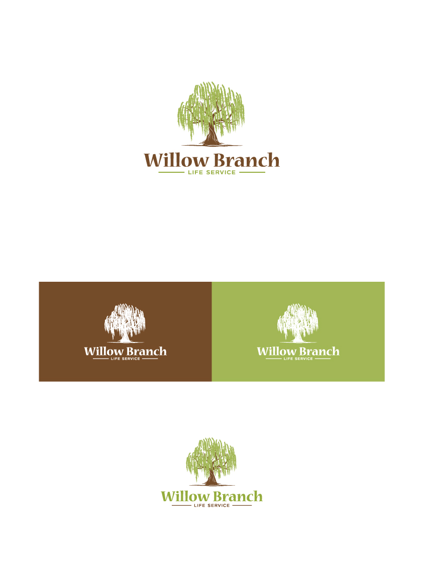 Logo Design by Tauhid Shaikh - Entry No. 138 in the Logo Design Contest Artistic Logo Design for Willow Branch Life Service.