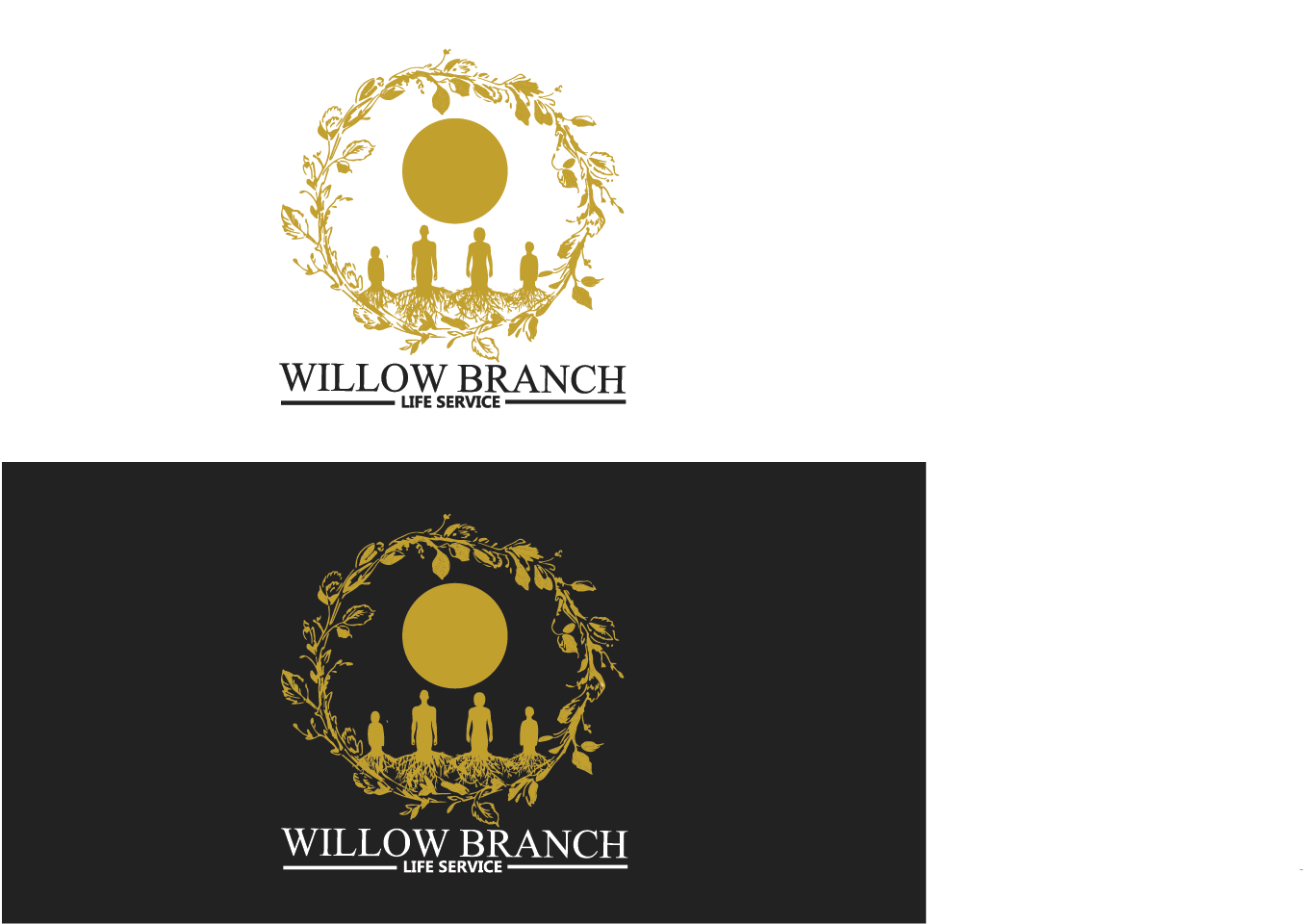 Logo Design by pojas12 - Entry No. 146 in the Logo Design Contest Artistic Logo Design for Willow Branch Life Service.