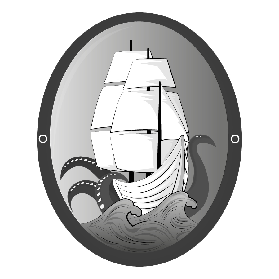Logo Design by JoshuaCaleb - Entry No. 24 in the Logo Design Contest Sea Monster Attacks Ship.