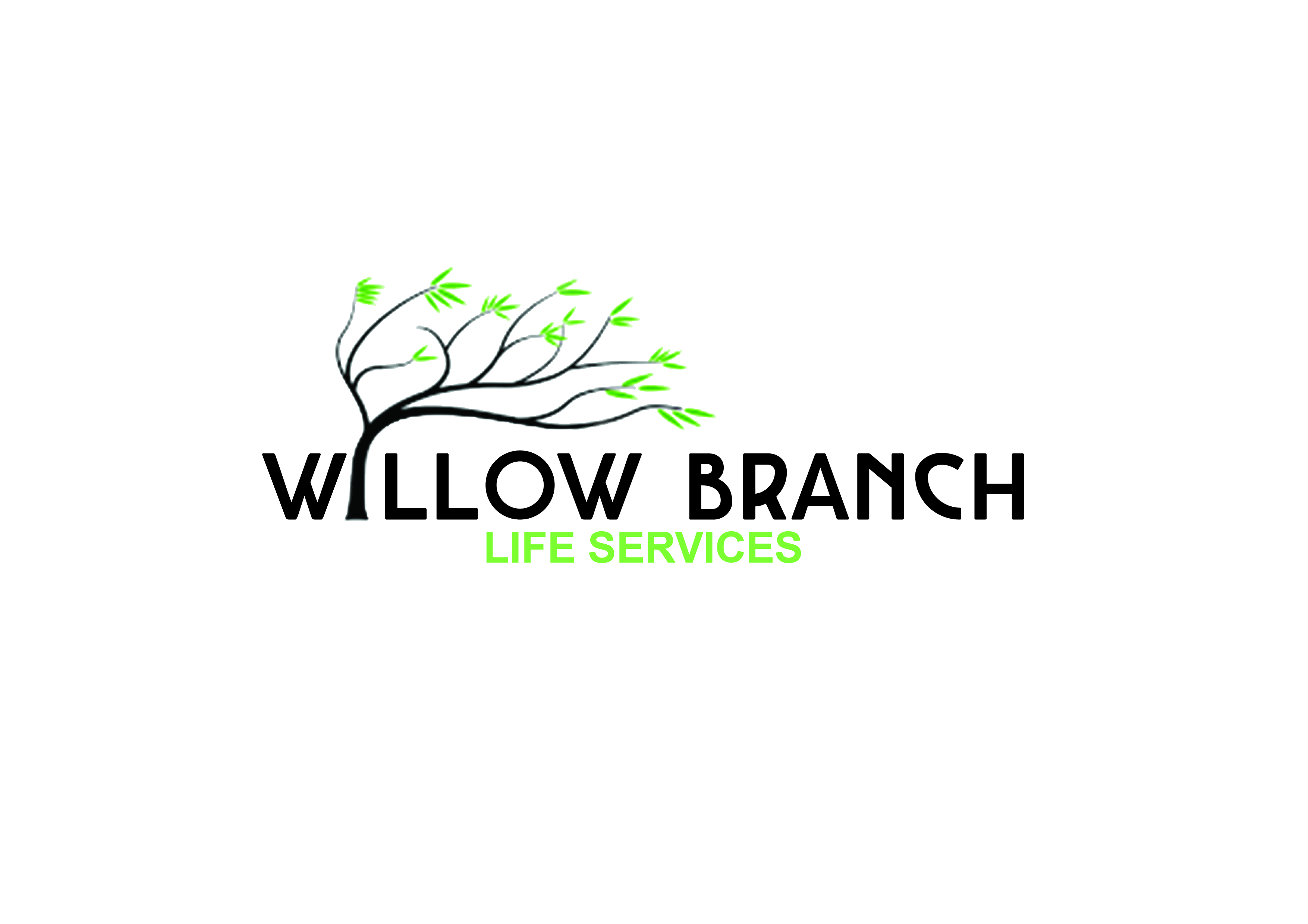 Logo Design by Anum Aamir - Entry No. 151 in the Logo Design Contest Artistic Logo Design for Willow Branch Life Service.