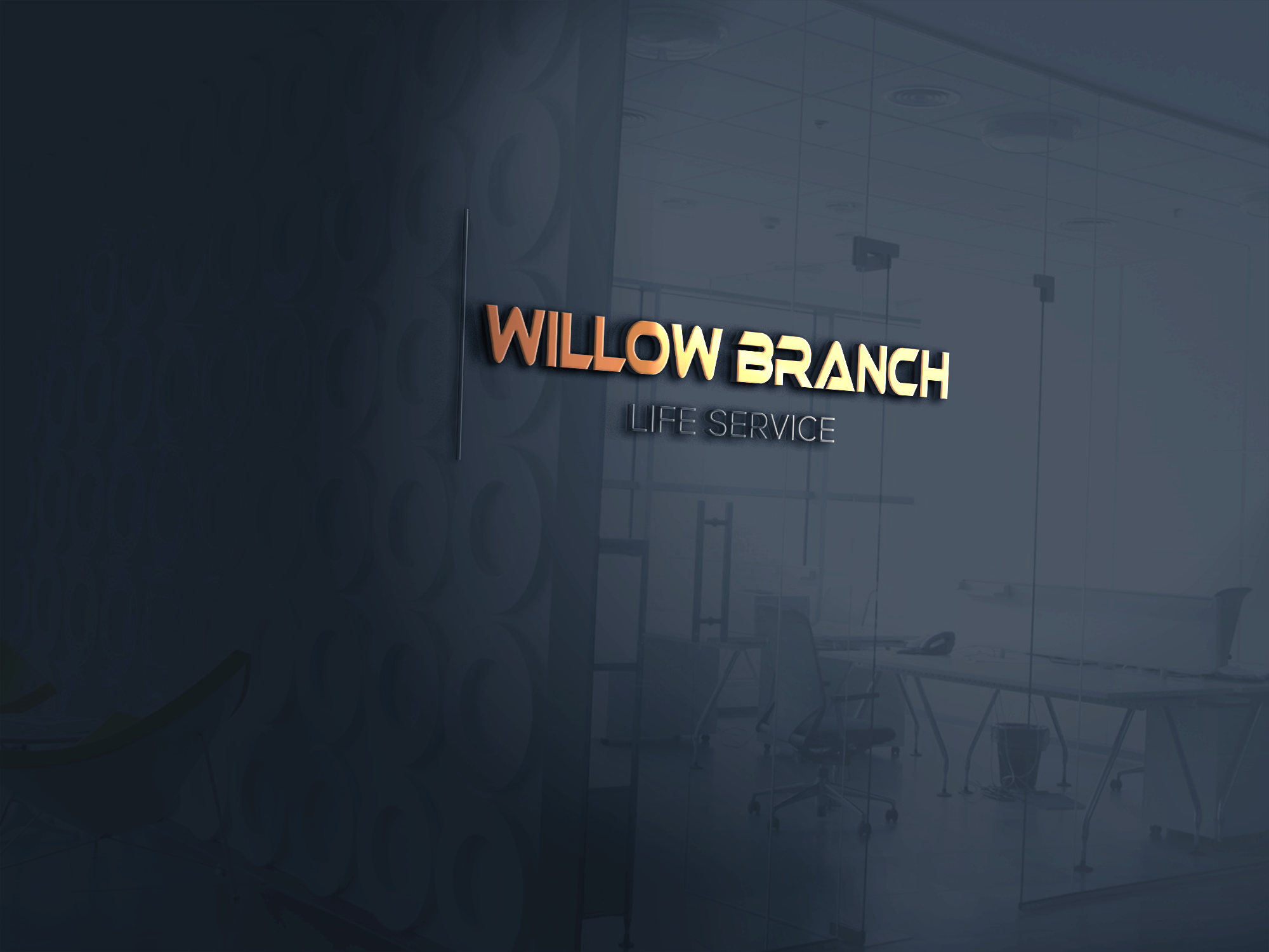 Logo Design by Ayrin Akter - Entry No. 152 in the Logo Design Contest Artistic Logo Design for Willow Branch Life Service.