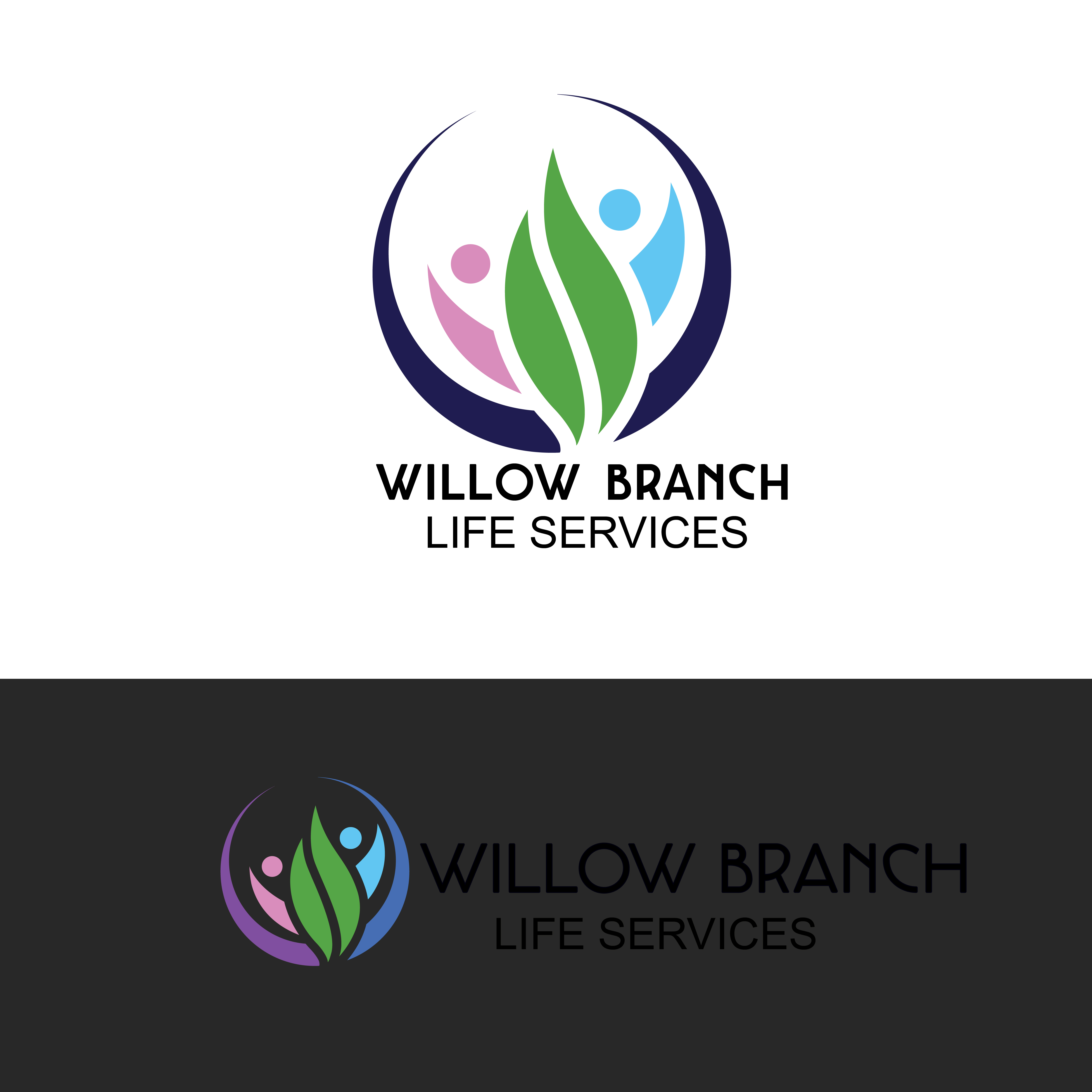 Logo Design by Anum Aamir - Entry No. 158 in the Logo Design Contest Artistic Logo Design for Willow Branch Life Service.
