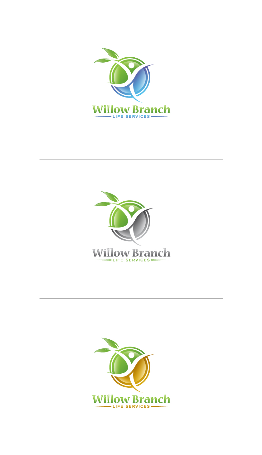Logo Design by Tauhid Shaikh - Entry No. 175 in the Logo Design Contest Artistic Logo Design for Willow Branch Life Service.