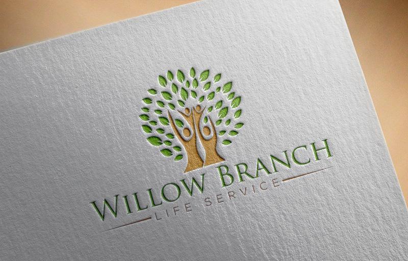 Logo Design by Md Harun Or Rashid - Entry No. 188 in the Logo Design Contest Artistic Logo Design for Willow Branch Life Service.