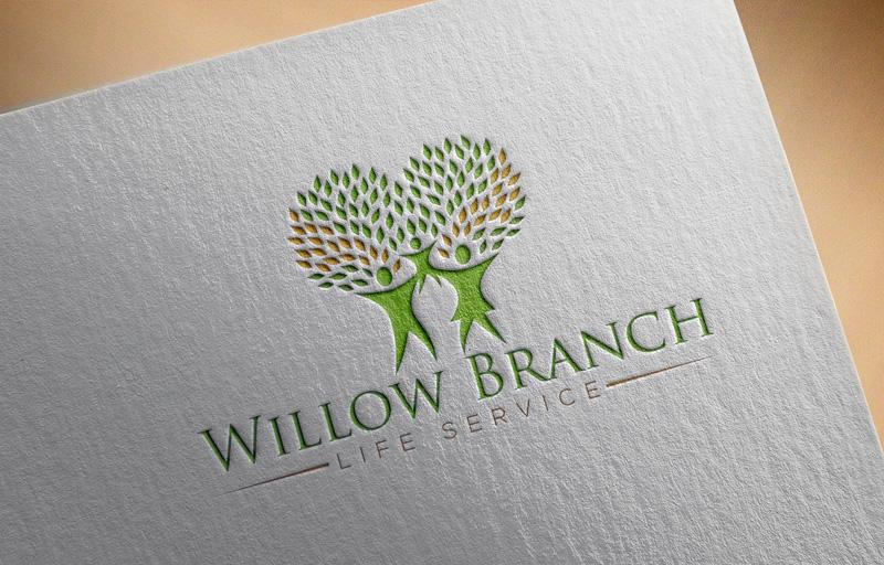 Logo Design by Md Harun Or Rashid - Entry No. 189 in the Logo Design Contest Artistic Logo Design for Willow Branch Life Service.
