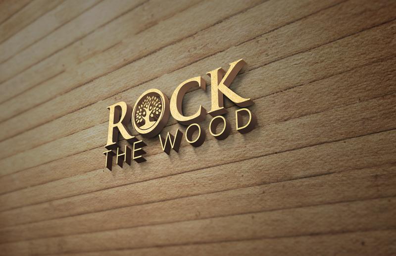 Logo Design by Md Harun Or Rashid - Entry No. 123 in the Logo Design Contest New Logo Design for Rock the Wood.
