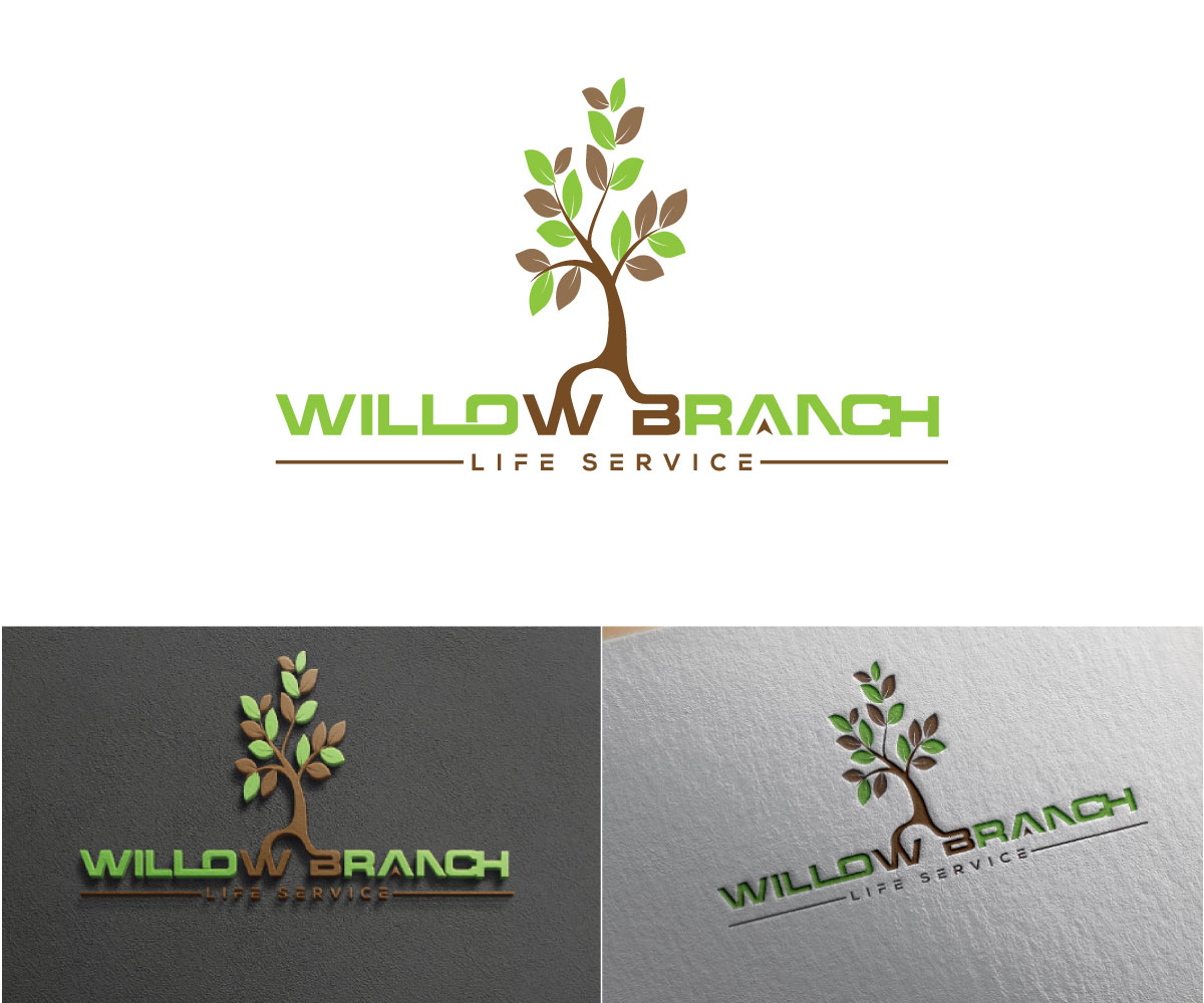 Logo Design by Kamal Hossain - Entry No. 208 in the Logo Design Contest Artistic Logo Design for Willow Branch Life Service.