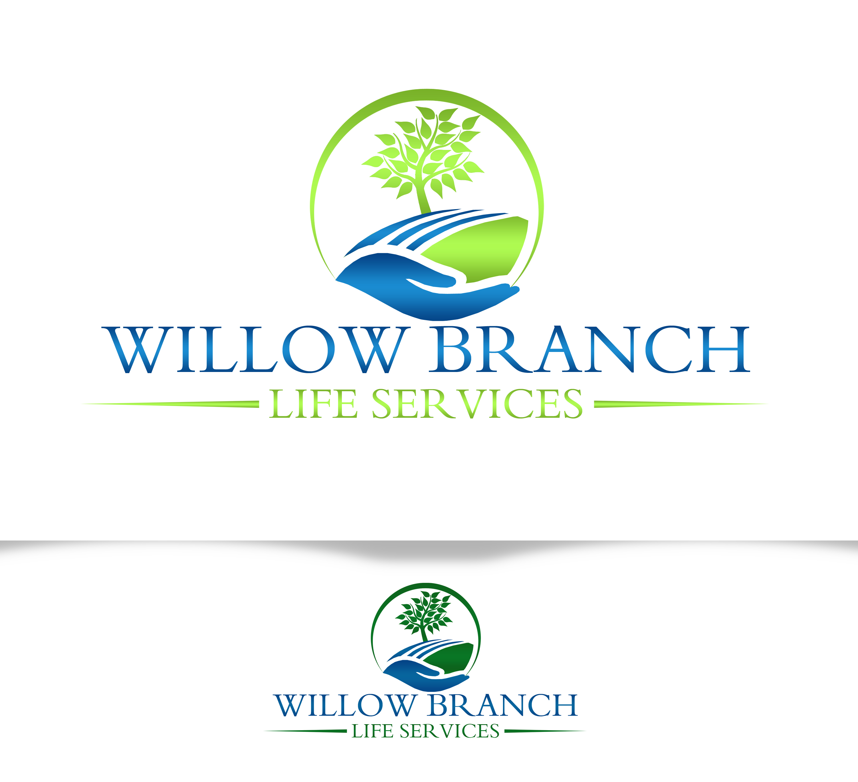 Logo Design by JSDESIGNGROUP - Entry No. 212 in the Logo Design Contest Artistic Logo Design for Willow Branch Life Service.