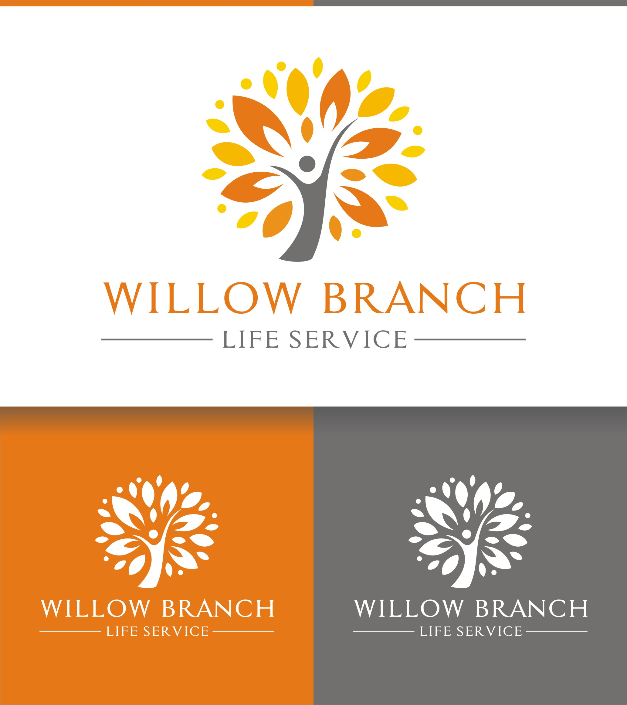 Logo Design by Spider Graphics - Entry No. 217 in the Logo Design Contest Artistic Logo Design for Willow Branch Life Service.