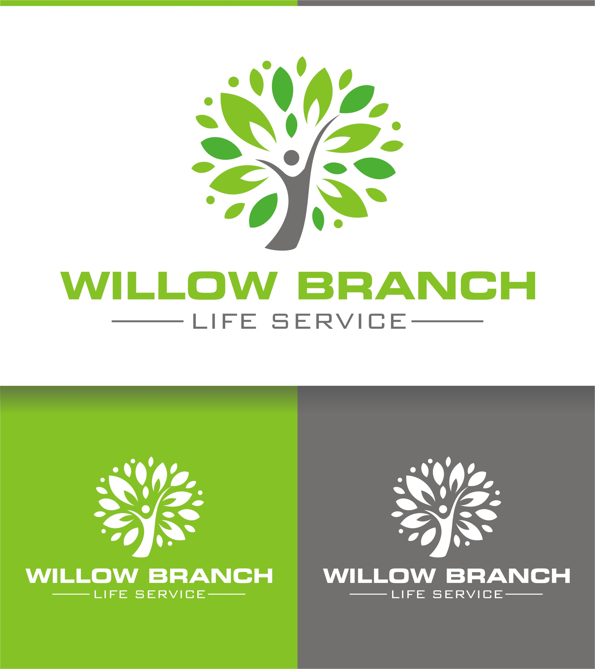 Logo Design by Spider Graphics - Entry No. 218 in the Logo Design Contest Artistic Logo Design for Willow Branch Life Service.