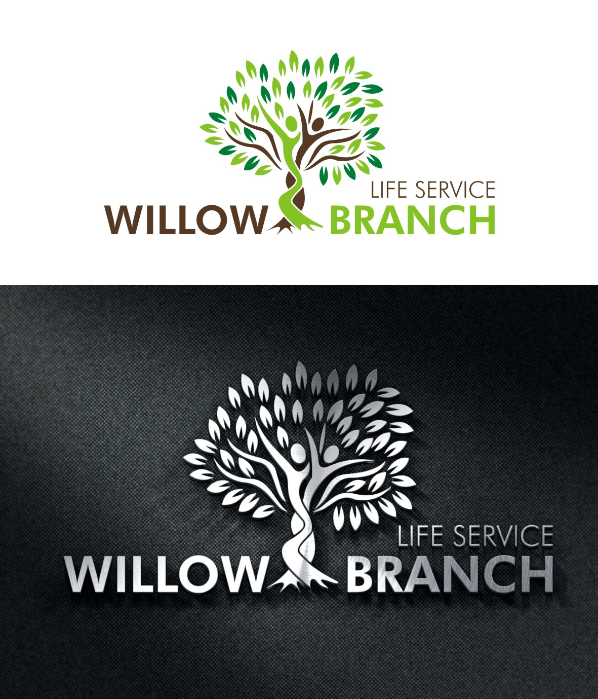 Logo Design by Spider Graphics - Entry No. 219 in the Logo Design Contest Artistic Logo Design for Willow Branch Life Service.