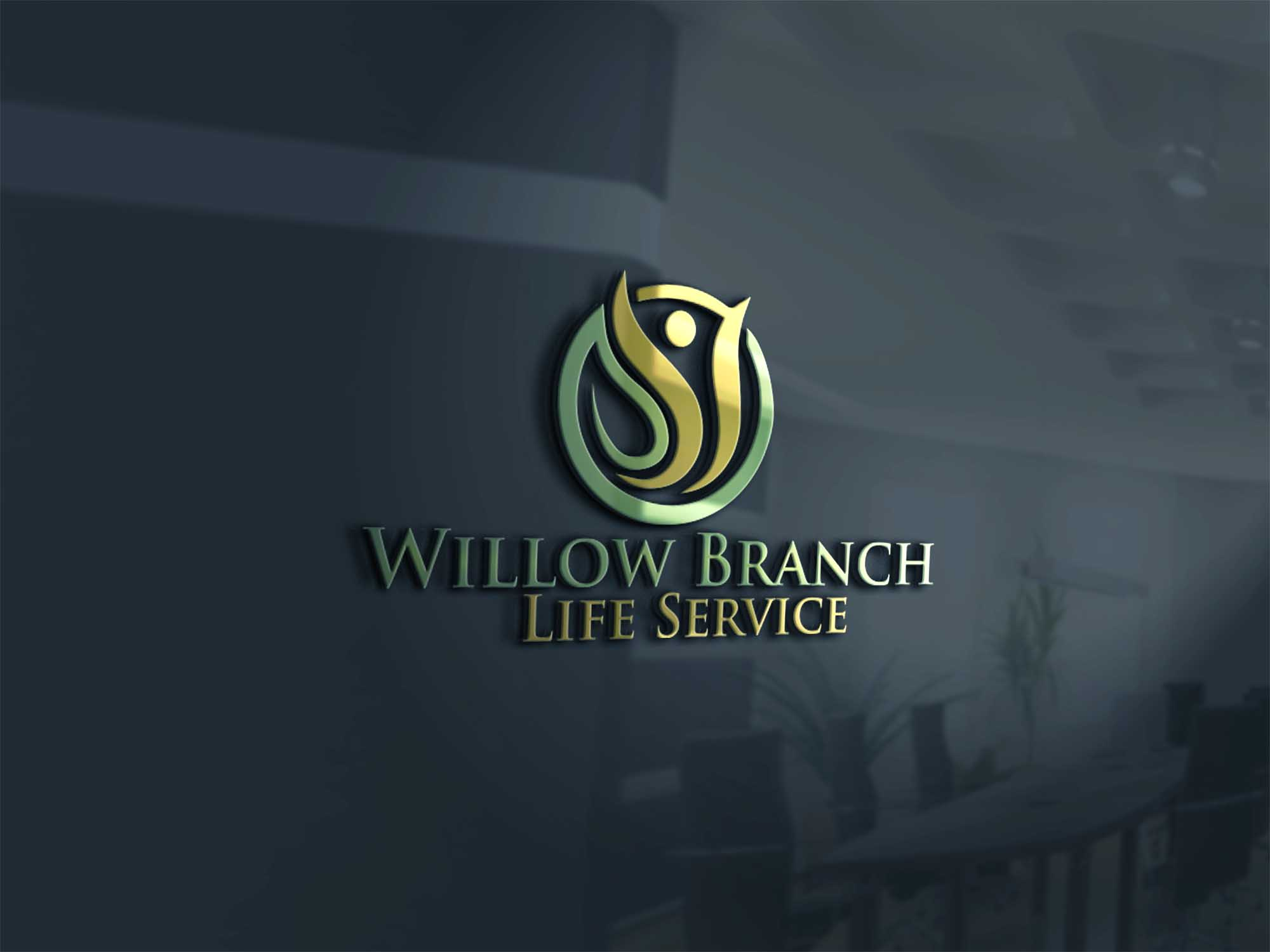 Logo Design by Private User - Entry No. 244 in the Logo Design Contest Artistic Logo Design for Willow Branch Life Service.
