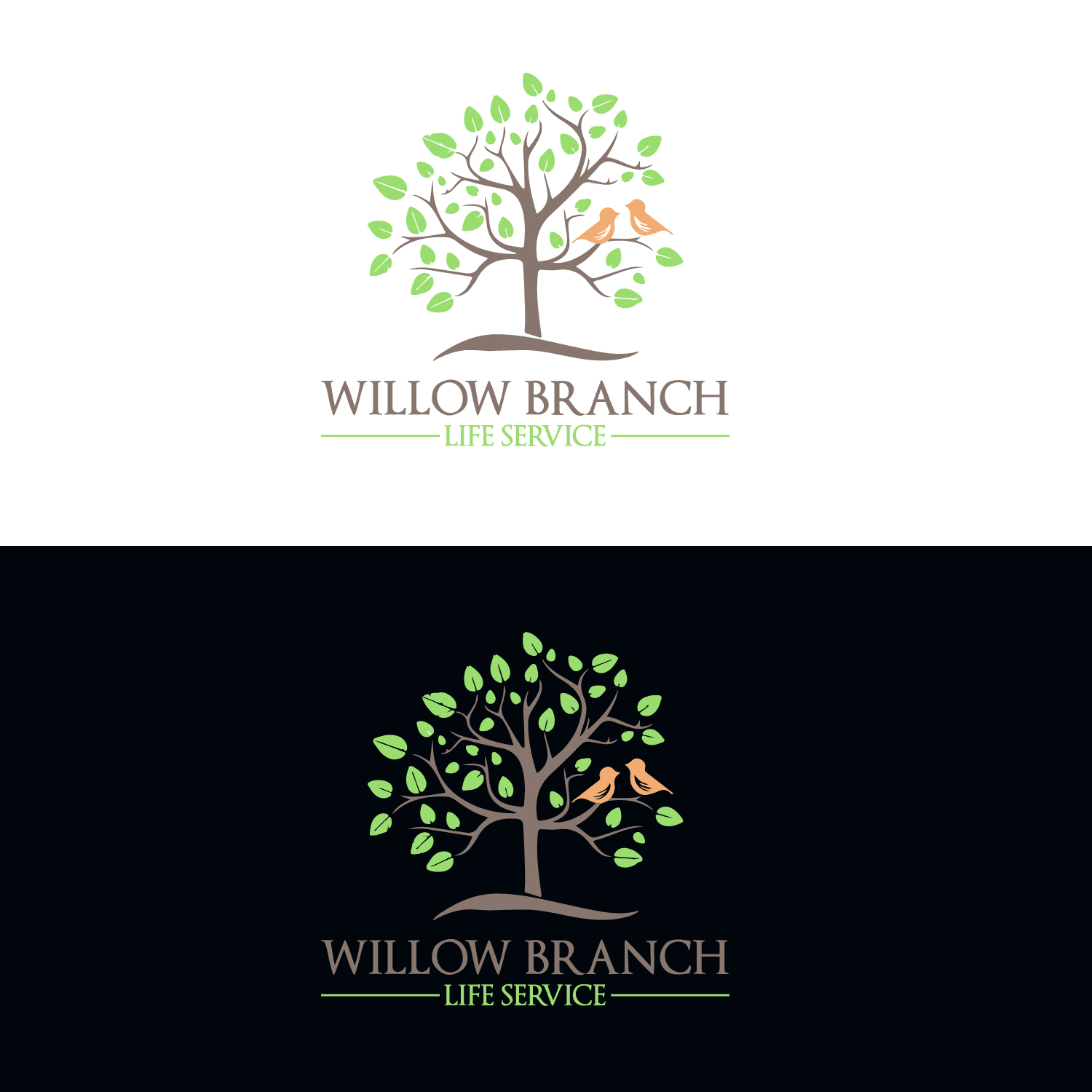 Logo Design by Badal Hossain - Entry No. 266 in the Logo Design Contest Artistic Logo Design for Willow Branch Life Service.