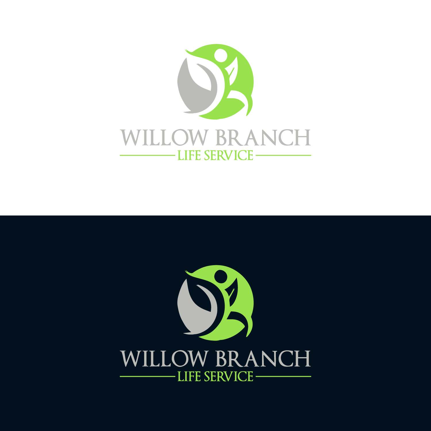 Logo Design by Badal Hossain - Entry No. 268 in the Logo Design Contest Artistic Logo Design for Willow Branch Life Service.