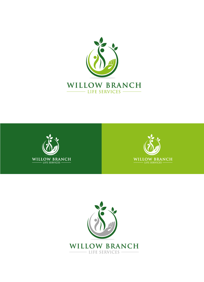 Logo Design by Tauhid Shaikh - Entry No. 271 in the Logo Design Contest Artistic Logo Design for Willow Branch Life Service.