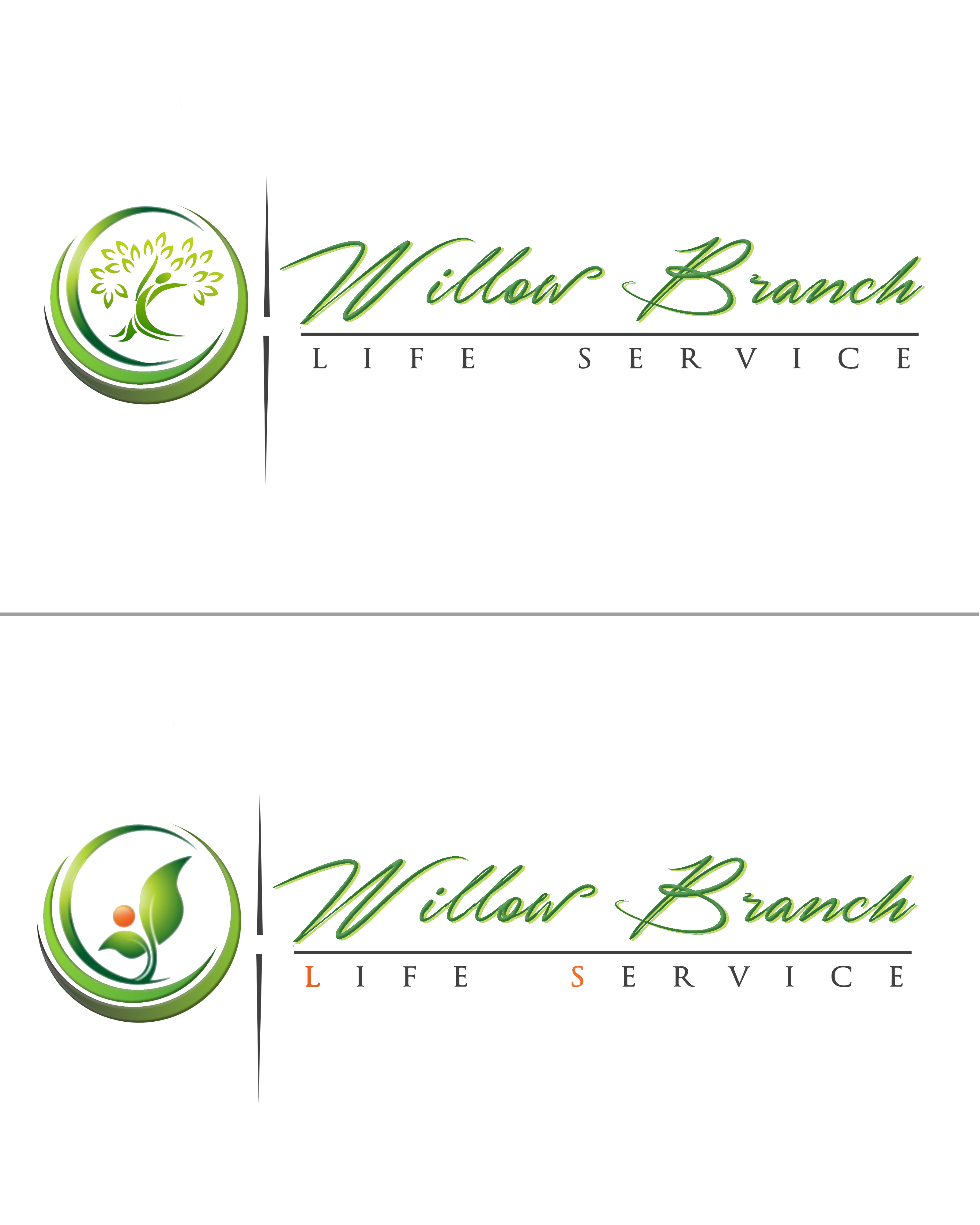 Logo Design by Roberto Bassi - Entry No. 278 in the Logo Design Contest Artistic Logo Design for Willow Branch Life Service.