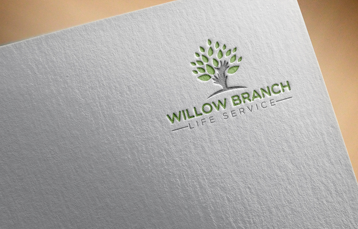 Logo Design by Mohammad azad Hossain - Entry No. 322 in the Logo Design Contest Artistic Logo Design for Willow Branch Life Service.
