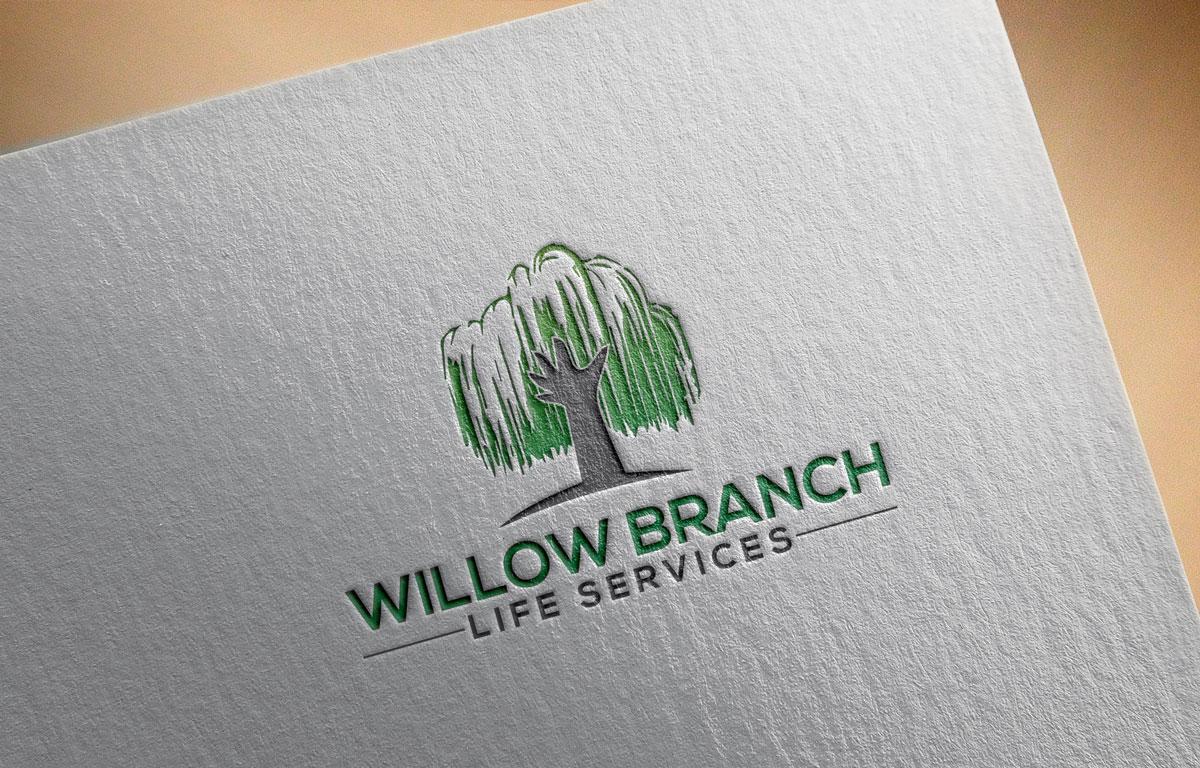 Logo Design by Easrat Jahan - Entry No. 397 in the Logo Design Contest Artistic Logo Design for Willow Branch Life Service.