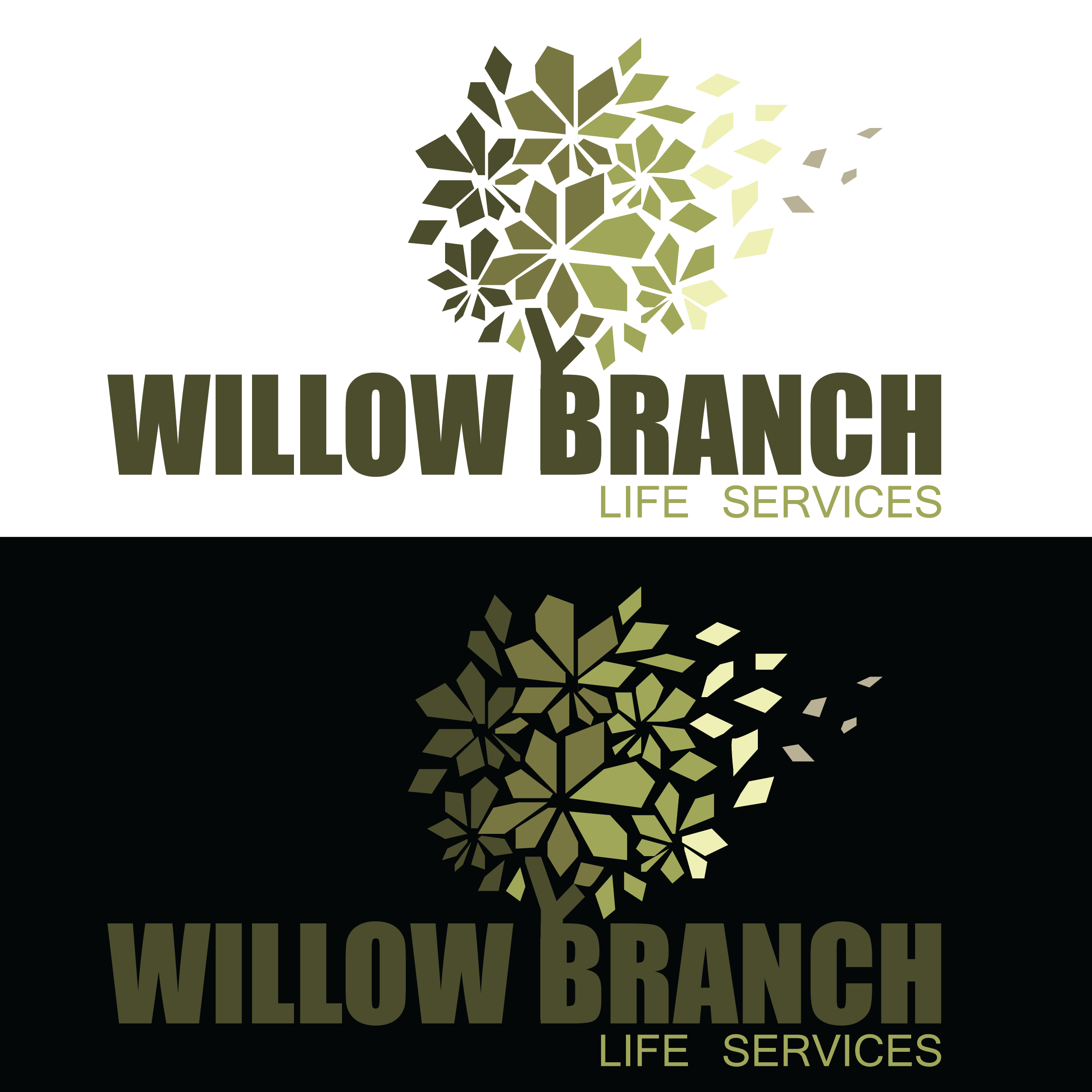 Logo Design by pojas12 - Entry No. 416 in the Logo Design Contest Artistic Logo Design for Willow Branch Life Service.