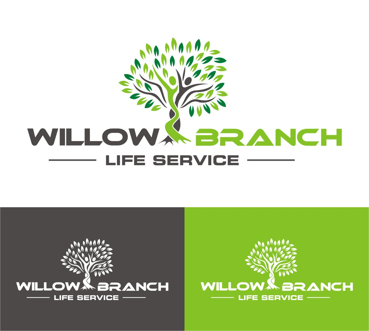 Logo Design by Spider Graphics - Entry No. 417 in the Logo Design Contest Artistic Logo Design for Willow Branch Life Service.