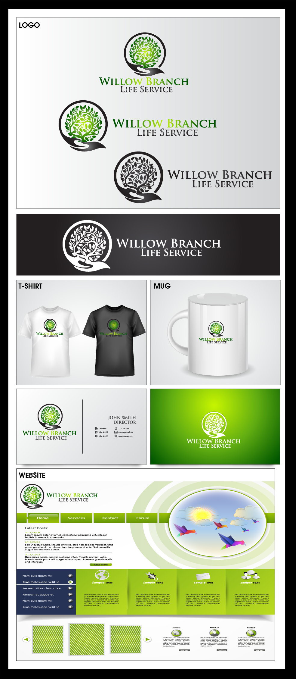 Logo Design by Private User - Entry No. 422 in the Logo Design Contest Artistic Logo Design for Willow Branch Life Service.