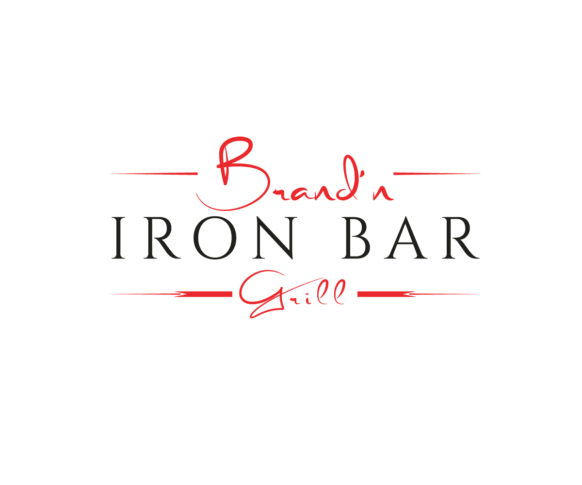 Logo Design by Apple Food - Entry No. 1 in the Logo Design Contest Captivating Logo Design for Brand'n Iron Bar & Grill.