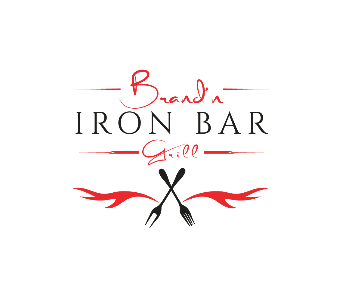 Logo Design by Apple Food - Entry No. 3 in the Logo Design Contest Captivating Logo Design for Brand'n Iron Bar & Grill.