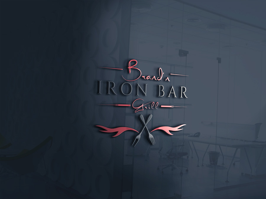 Logo Design by Apple Food - Entry No. 4 in the Logo Design Contest Captivating Logo Design for Brand'n Iron Bar & Grill.