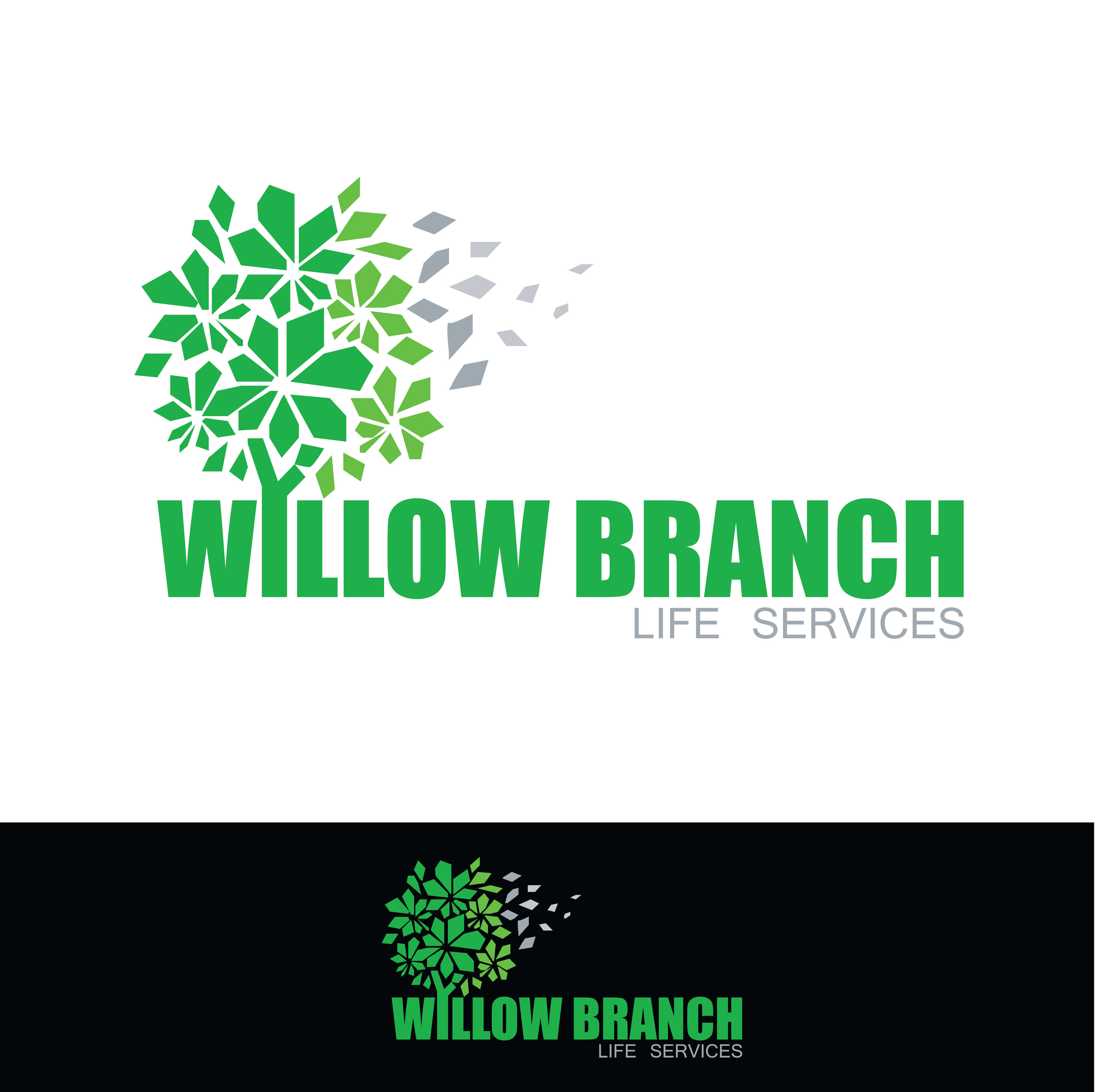 Logo Design by pojas12 - Entry No. 424 in the Logo Design Contest Artistic Logo Design for Willow Branch Life Service.