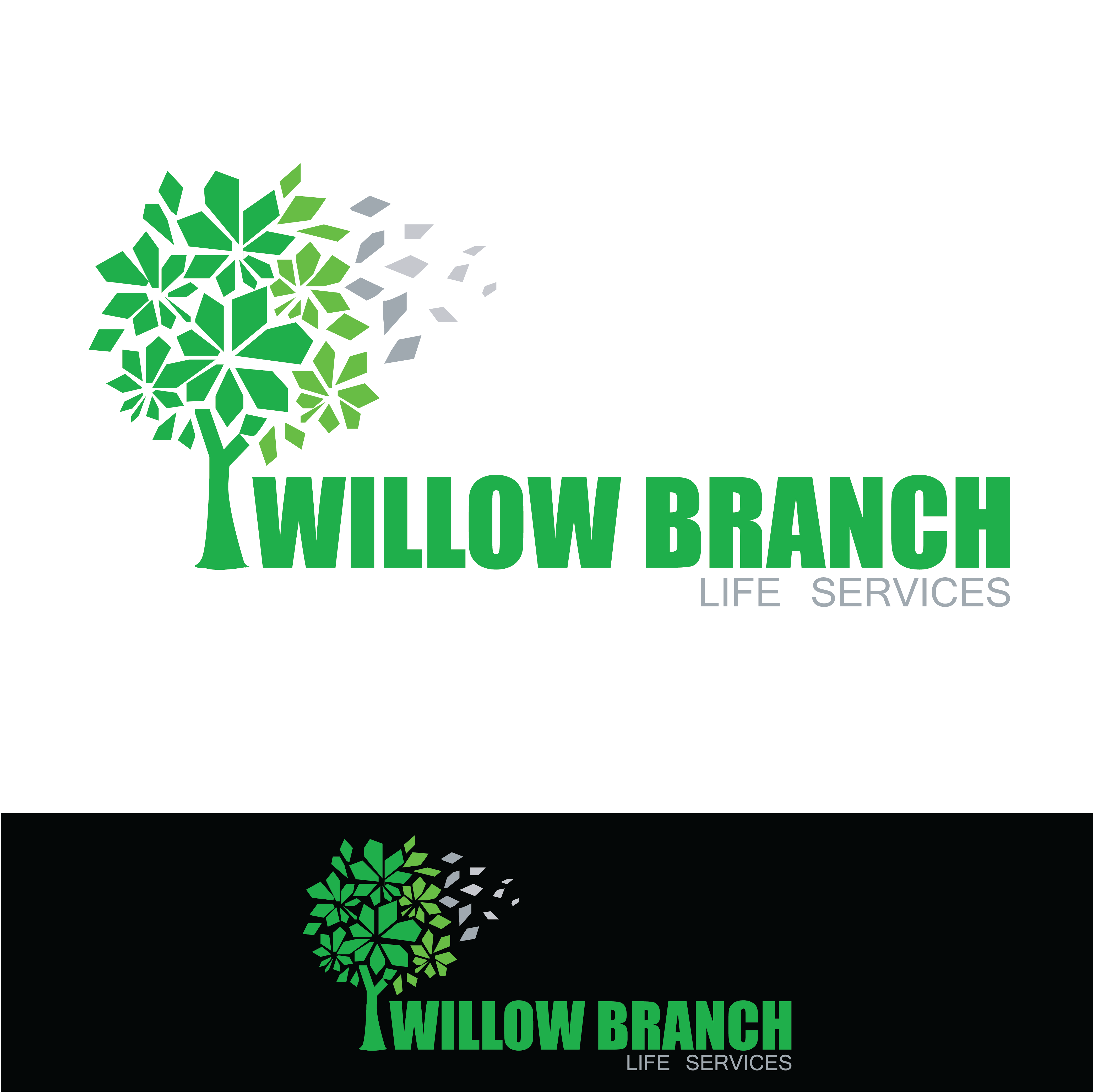 Logo Design by pojas12 - Entry No. 425 in the Logo Design Contest Artistic Logo Design for Willow Branch Life Service.