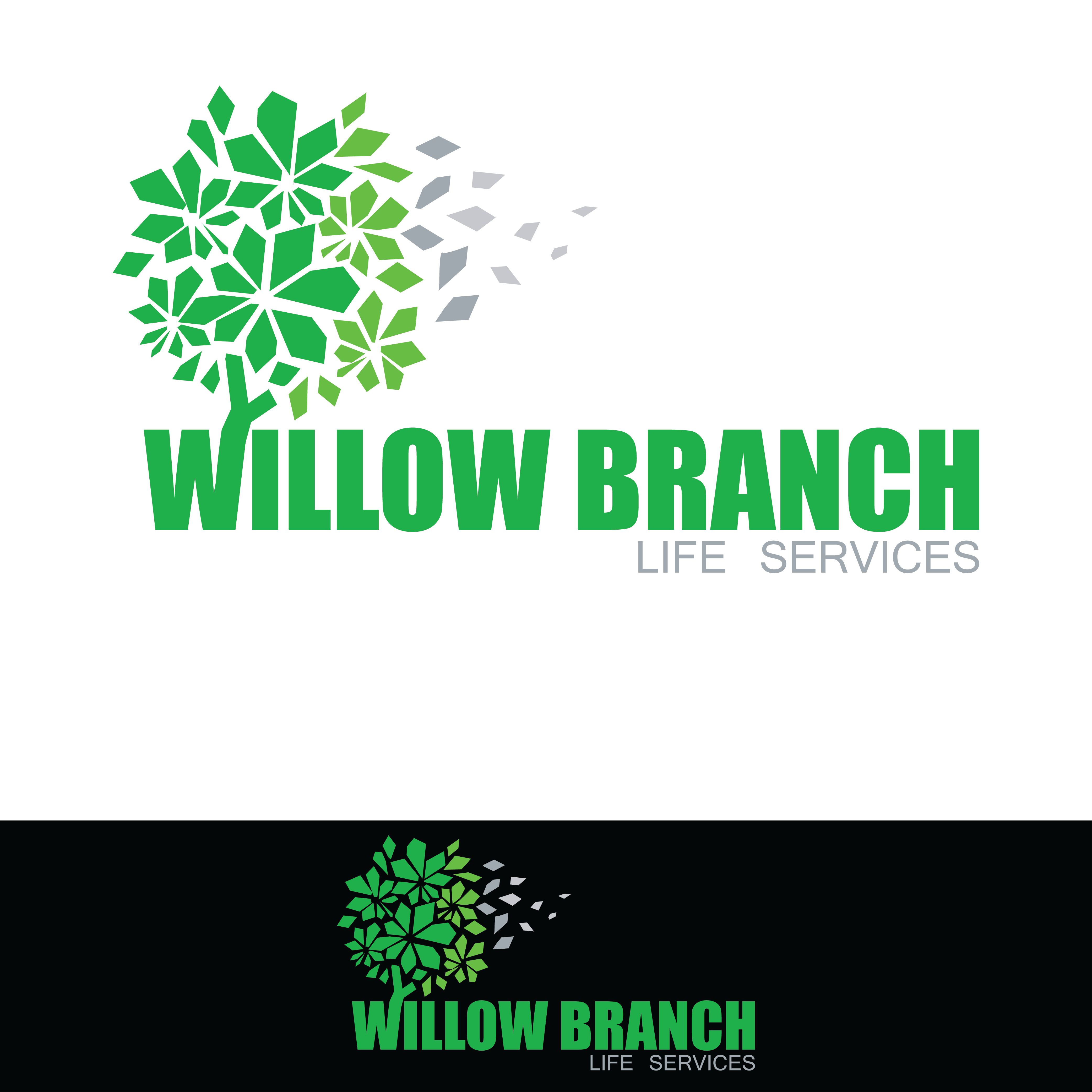 Logo Design by pojas12 - Entry No. 426 in the Logo Design Contest Artistic Logo Design for Willow Branch Life Service.