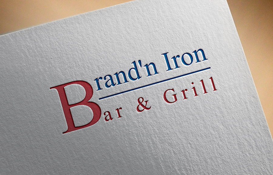 Logo Design by Neon Mirza shakib - Entry No. 5 in the Logo Design Contest Captivating Logo Design for Brand'n Iron Bar & Grill.