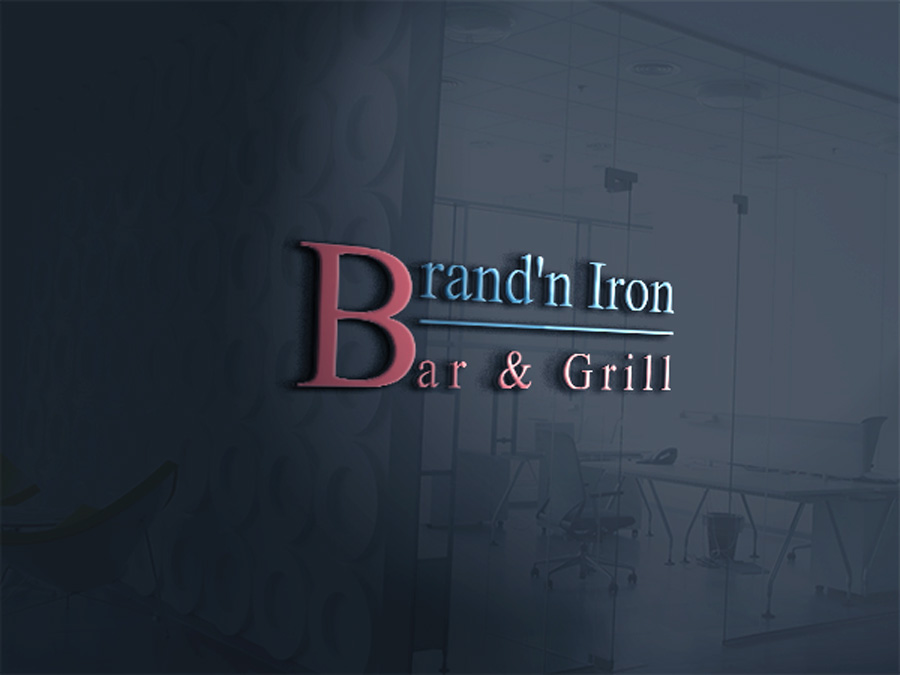 Logo Design by Neon Mirza shakib - Entry No. 6 in the Logo Design Contest Captivating Logo Design for Brand'n Iron Bar & Grill.