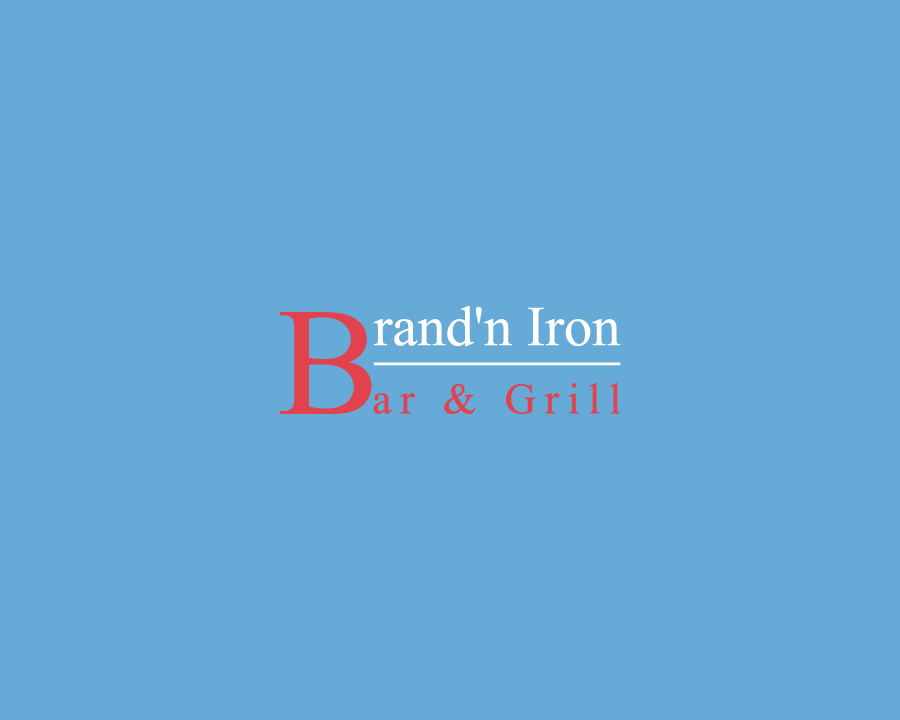 Logo Design by Neon Mirza shakib - Entry No. 7 in the Logo Design Contest Captivating Logo Design for Brand'n Iron Bar & Grill.